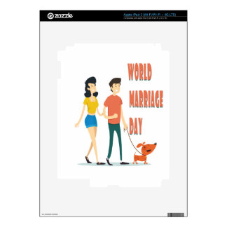 12th February - World Marriage Day Skin For iPad 3
