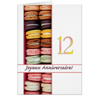 12th French Birthday Macaron-Joyeux Anniversaire! Card