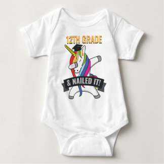 12TH GRADE Nailed It Unicorn Dabbing Graduation Baby Bodysuit