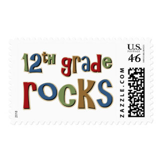 12th Grade Rocks Twelfth Stamps