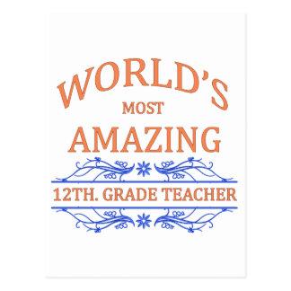 12th. Grade Teacher Postcard