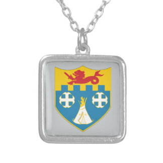 12th Infantry Regiment - DUI Silver Plated Necklace