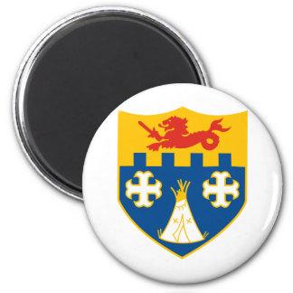 12th IR Crest 2 Inch Round Magnet