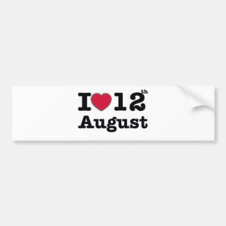 12th  july birthday design bumper sticker