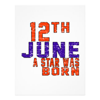 12th June a star was born Custom Letterhead