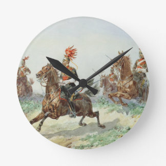 12th Royal Lancers (w/c over pencil heightened wit Round Wall Clocks