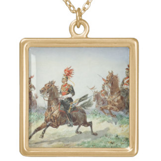 12th Royal Lancers (w/c over pencil heightened wit Gold Plated Necklace