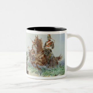 12th Royal Lancers (w/c over pencil heightened wit Two-Tone Coffee Mug