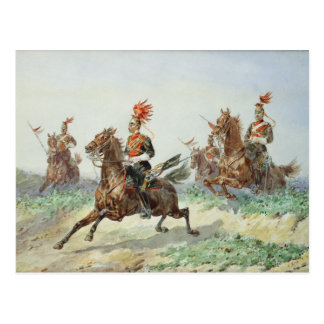 12th Royal Lancers (w/c over pencil heightened wit Postcard