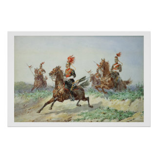 12th Royal Lancers (w/c over pencil heightened wit Print