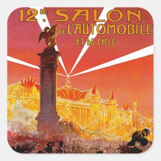 12th Salon de L'Automobile Square Sticker