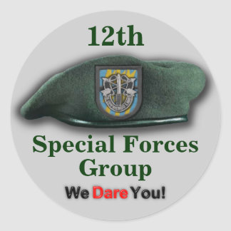 12th Special forces veterans vets flash Sticker