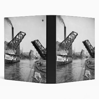 12th Street bascule bridge Chicago Illinois 3 Ring Binder
