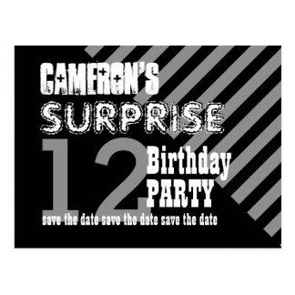 12th TWEEN Surprise Birthday Save the Date T12B Postcard