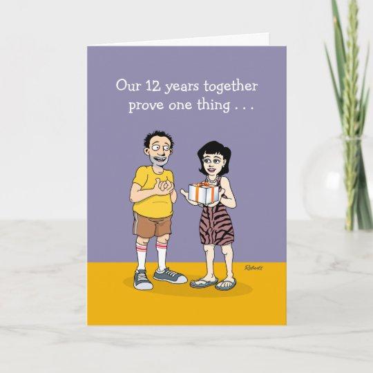 12th Wedding Anniversary Card Love