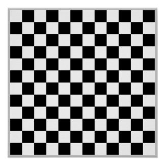 12x12 Checkers TAG Board (Fridge Magnet Game) Print