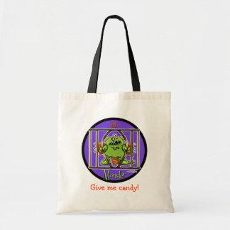 12x12-littlemonster-circle tote bag