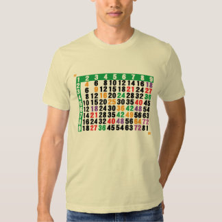 12x12 matrix a multiplication table shirt