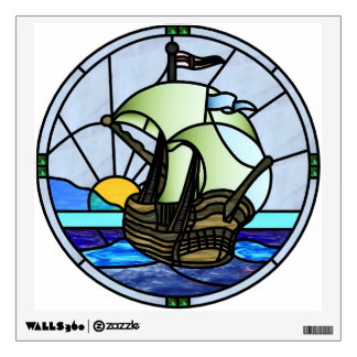12x12 Nouveau Swan Window or Wall Decal