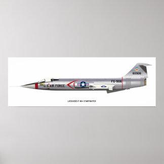 12x36 Lockheed F-104 Starfighter Poster