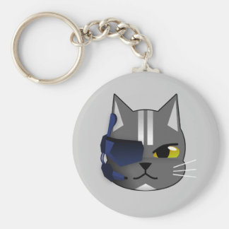 1300978731_Vector_Clipart Pirate cat grey eyepatch Keychain