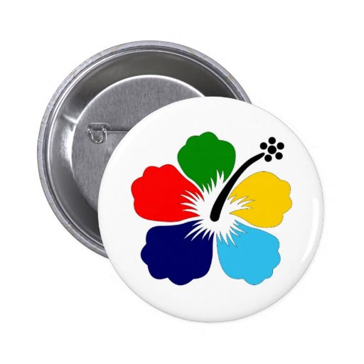 130327207220 Colourful Hibiscus Flower vector logo Pin