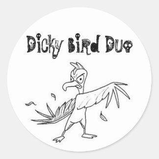 1306390029_1df9e16e50, dúo del pájaro del peto pegatina redonda