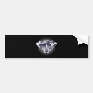1307552490_Vector_Clipart silver diamond black Bumper Sticker