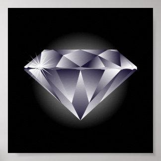 1307552490_Vector_Clipart silver diamond black Poster