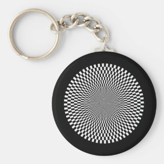 1309144895_Vector BLACK WHITE OPTICAL ILLUSIONS Keychain