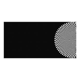 1309144895_Vector BLACK WHITE OPTICAL ILLUSIONS Photo Greeting Card