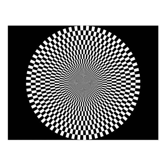 1309144895_Vector BLACK WHITE OPTICAL ILLUSIONS Postcard