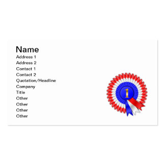 1309937417_Vector_Clipart number one winner ribbon Business Card