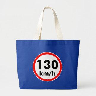 130 kilómetros por hora bolsa tela grande