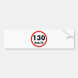 130 kilómetros por hora pegatina para auto