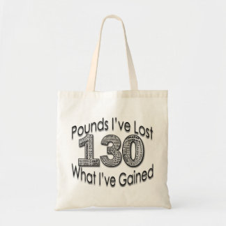 130 Pounds Lost Shirt Tote Bag