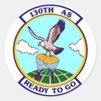 130th AS Round Sticker