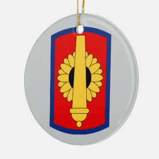 130th Field Artillery Brigade Double-Sided Ceramic Round Christmas Ornament