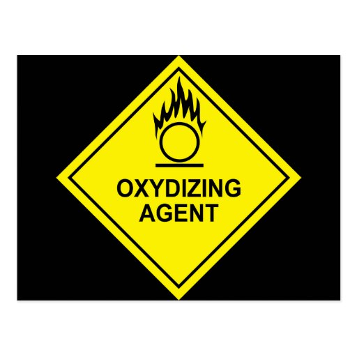 1312273502_Vector_Clipart oxydizing agent warning Postcard