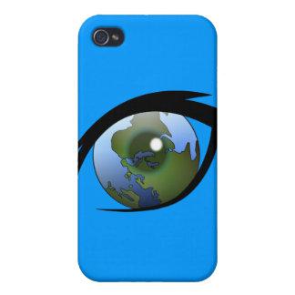 1312287950_Vector_Clipart earth eye icon logo iPhone 4/4S Case