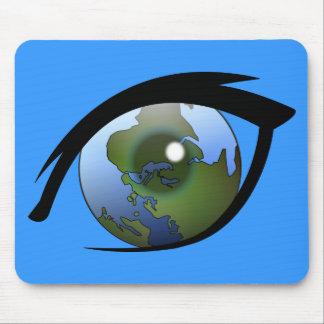 1312287950_Vector_Clipart earth eye icon logo Mouse Pad