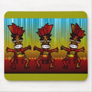 1312743176_Vector_Clipart Hawaiian Tiki men Mouse Pad