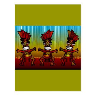 1312743176_Vector_Clipart Hawaiian Tiki men Post Cards