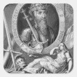 1312-77) reyes de Edward III (de Inglaterra a Calcomanía Cuadradas