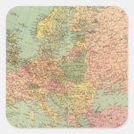 1314 Europa política Pegatina Cuadrada