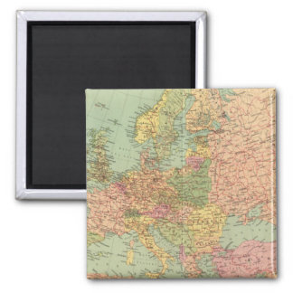1314 Political Europe 2 Inch Square Magnet