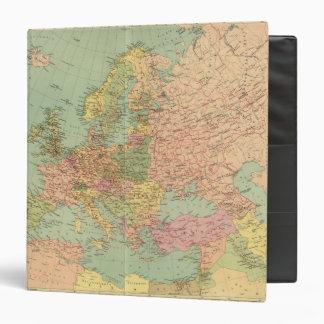 1314 Political Europe 3 Ring Binder