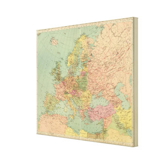 1314 Political Europe Canvas Print
