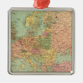 1314 Political Europe Metal Ornament