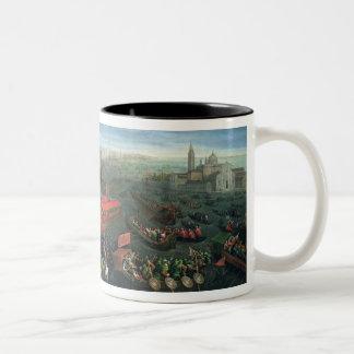 131-0057978/1 Riva degli Schiavoni, Venice Two-Tone Coffee Mug